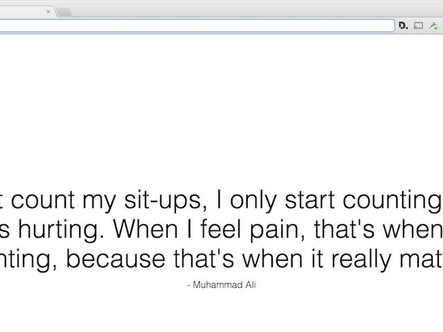 Động lực của tab mới mang đến cho bạn một trích dẫn mới, đầy cảm hứng với mỗi tab bạn mở