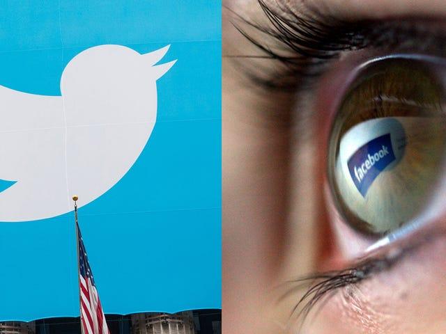 Twitter e Facebook si distruggono a caso sui video dei terroristi dopo l'avvertimento UE