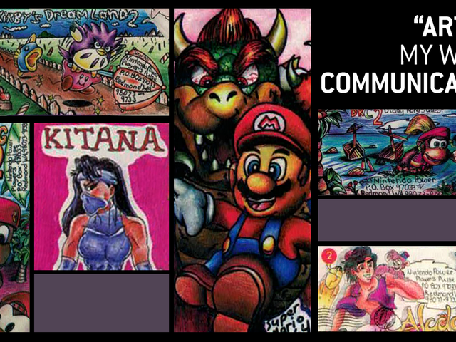 Back In The '90s,Nintendo Power Helped A Shy Fan Show Her Envelope Art To The World