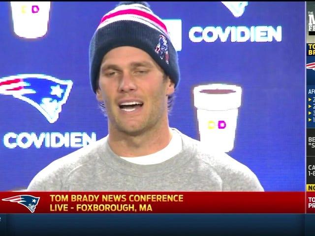 Tom Brady: Jag ändrade inte eller ens noterade de underflötade bollarna