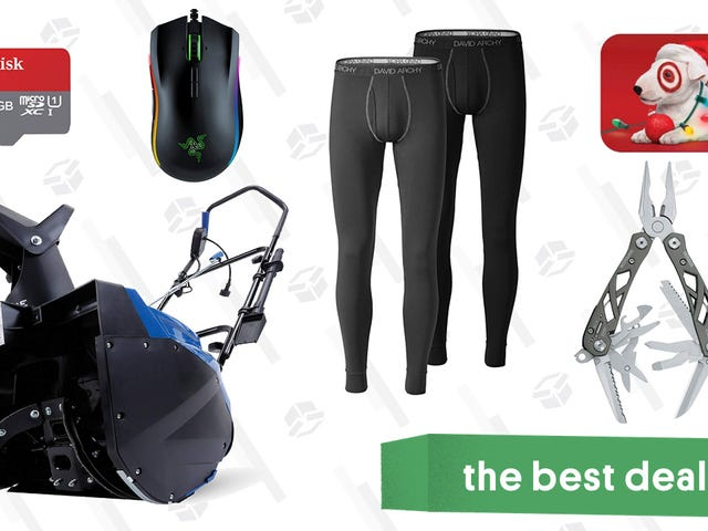 Sunday's Best Deals: David Archy Thermals, Target Gift Cards, a Snow Thrower, and More