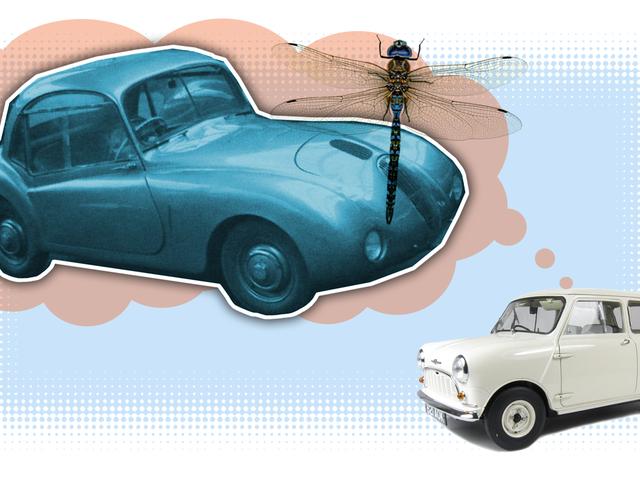 Ten dziwnie karykaturalny mały samochód, którego nigdy nie słyszałeś o innowacjach Mini za 13 lat wcześniej