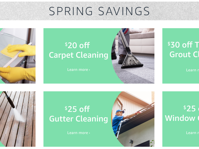 Book Spring Cleaning Services Through Amazon For $20-$30 Off