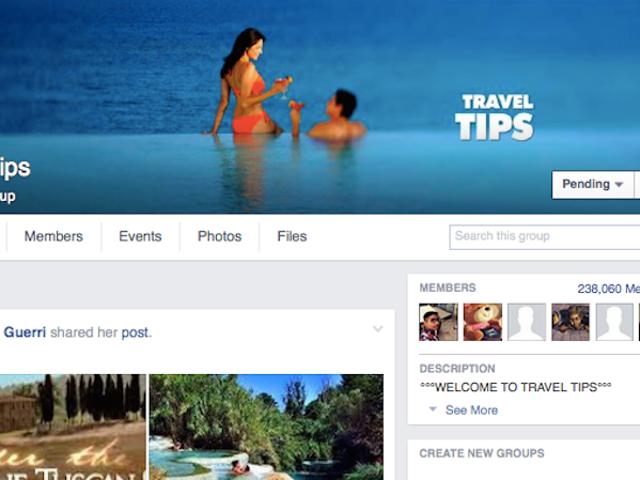 Únase a los grupos de viaje de Facebook para obtener consejos de los profesionales