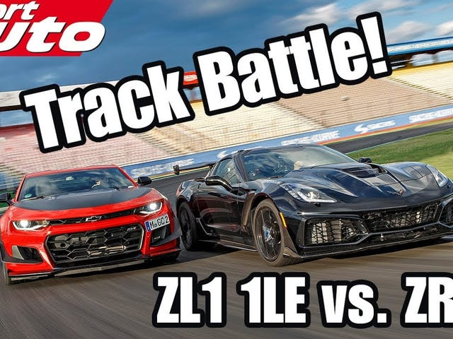 Camaro ZL1 1LE and Corvette ZR1 on track