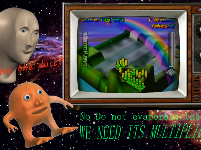 Wetrix, or Vaporwave/r/Surreal Memes: The N64 Puzzle Game
