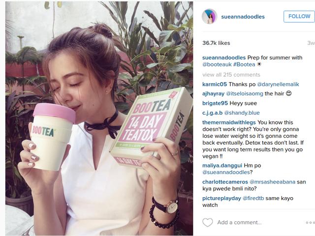Instagram的病毒减肥茶只是泻药