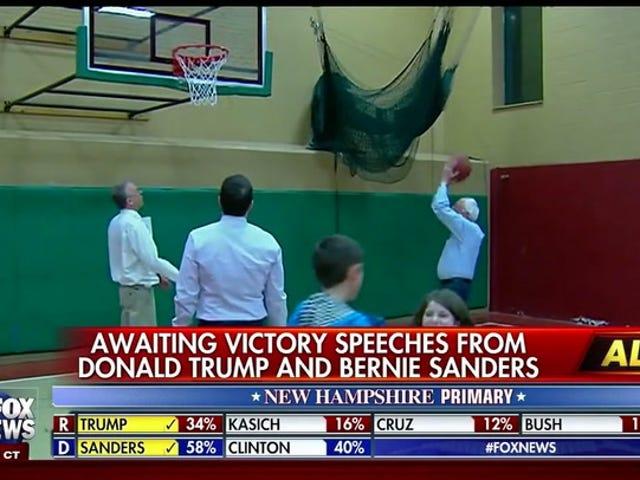 Bernie Sanders, Ateşte ... Katta Belirli Bir Noktadan