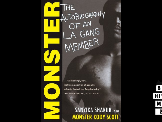 28 Days of Literary Blackness With VSB   Day 6: Monster: The Autobiography of an L.A. Gang Member by Sanyika Shakur