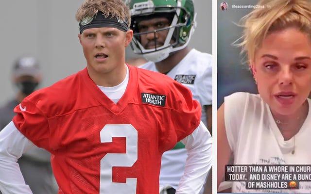 Największym problemem, z którym boryka się teraz debiutant Jets, Zach Wilson, jest… jego mama