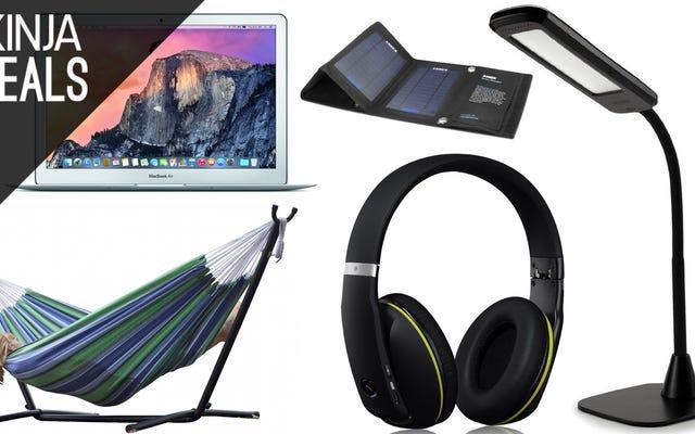 ข้อเสนอที่ดีที่สุดของวันนี้: MacBooks, Hammocks, หูฟังบลูทู ธ และอื่น ๆ