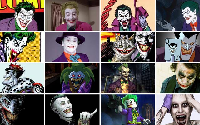 ジョーカーの多くの、多くの化身の完全な歴史
