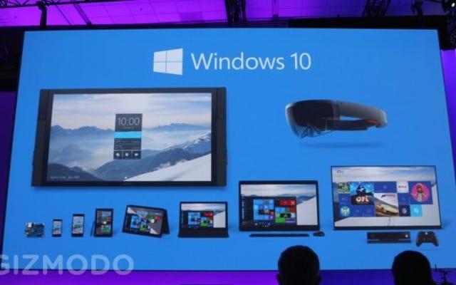 Windows 10は夏に到着しますが、スマートフォン用ではありません