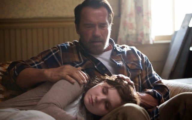 श्वार्ज़नेगर ने अपनी (अभिनय) मांसपेशियों को सोमरस ज़ोंबी टेल मैगी में फ्लेक्स किया