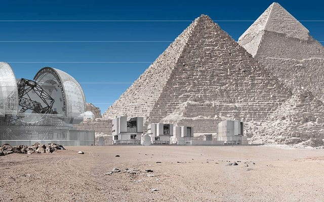 これは、世界で次に大きい地上の望遠鏡がどれほど巨大になるかです