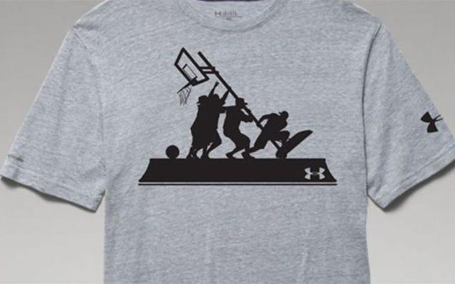 硫黄島の星条旗「BandOfBallers」バスケットボールシャツで非難されたアンダーアーマー