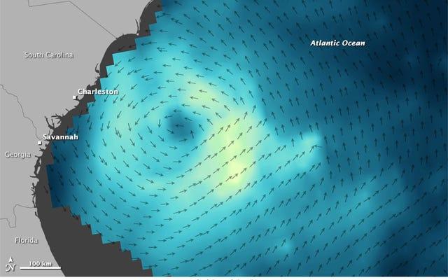 新しい地球を周回するマイクロ波銃が風のダイナミクスのキラーマップを作成しています