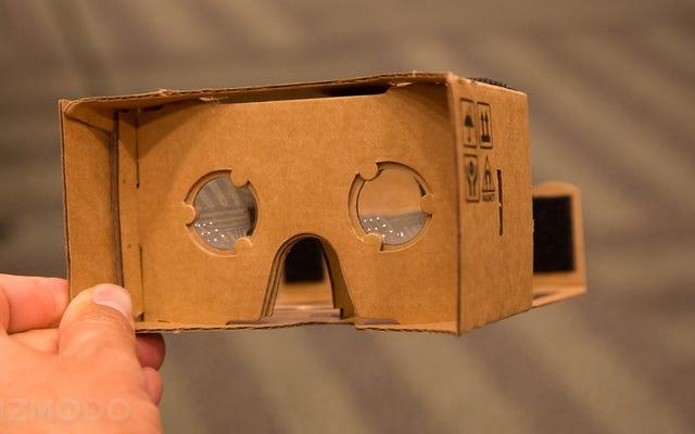 All'I / O di Google, Cardboard non sarà più necessariamente Cardboard