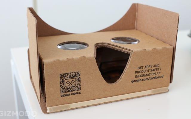Il nuovo pratico Cardboard di Google: un po 'più grande, un po' meglio
