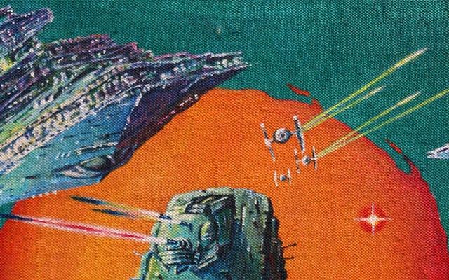 いくつかのクレイジーなスターウォーズポスターの背後にあるオリジナルアート