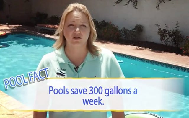 水を節約したいですか?プールを構築すると、プール業界は言います