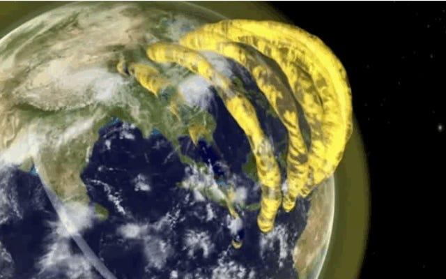 地球の大気圏上に存在することが確認された大きなプラズマ管