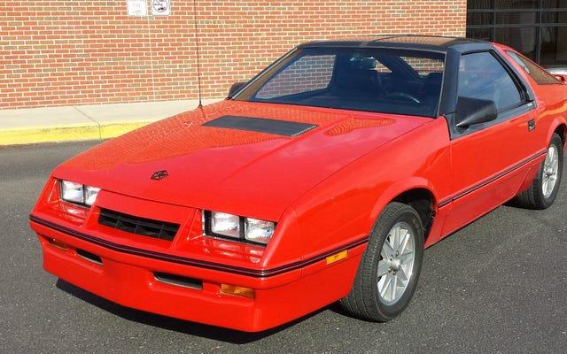 Pour 7000 $, cette Chrysler Laser XT Turbo 1986 pourrait illuminer votre vie