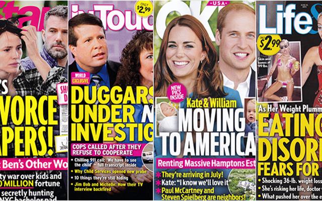今週のタブロイド紙:ケイトとウィリアムはアメリカに引っ越します!!!!!!!!!