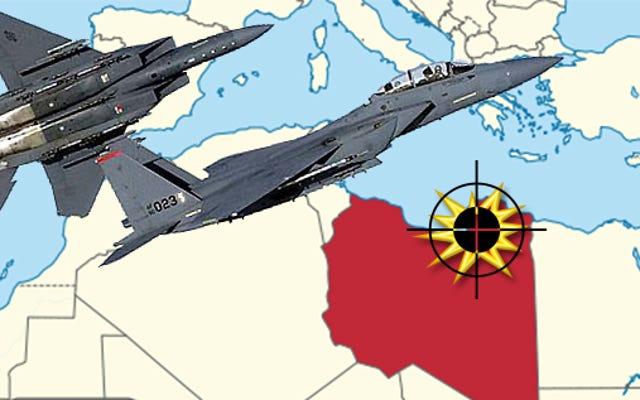リビア東部の「マルボロマン」テロキングピンでのUSAFF-15Esストライキ