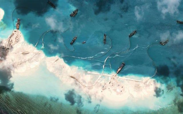 中国は、人工島プロジェクトは数日で完了すると述べています