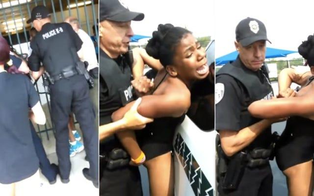 オハイオ州の警官がプールで10代前半の妊婦を強制的にカフで撮影