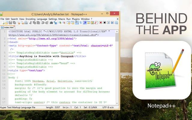 Por trás do aplicativo: a história do Notepad ++