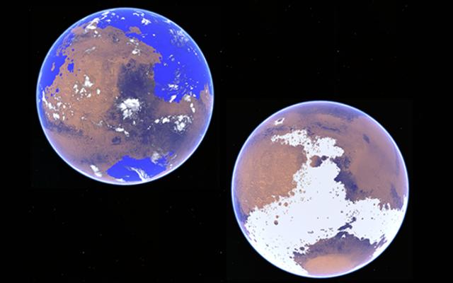¿Ese antiguo océano marciano? Podría haber estado congelado.