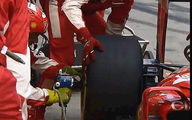 フェラーリの乗組員に痛みと苦悶の意味を見せましょう