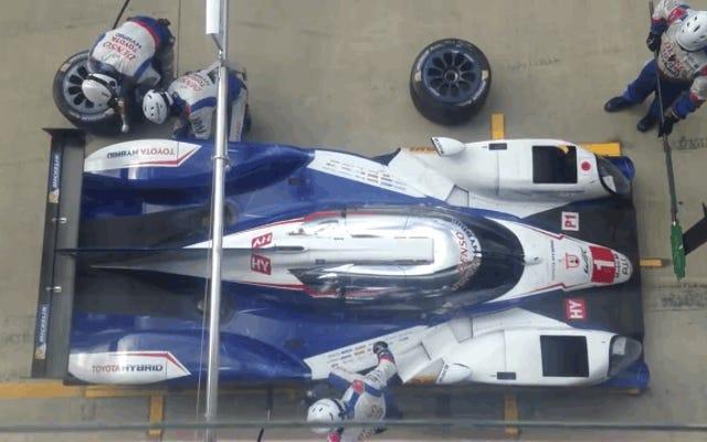 तुलना में F1 कार, Nascar और Indy Car के गड्ढे बंद हो जाते हैं