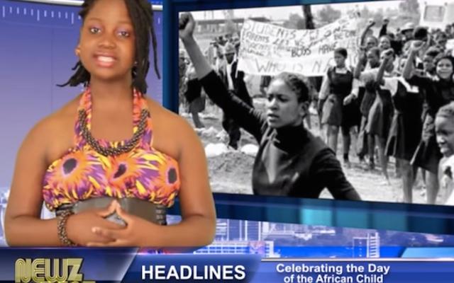 युगांडा में आराध्य किशोर रैपर समाचार प्रसारित कर रहे हैं