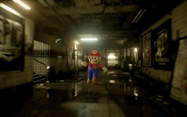 Unreal Engine4で再現されたスーパーマリオは恐ろしいです
