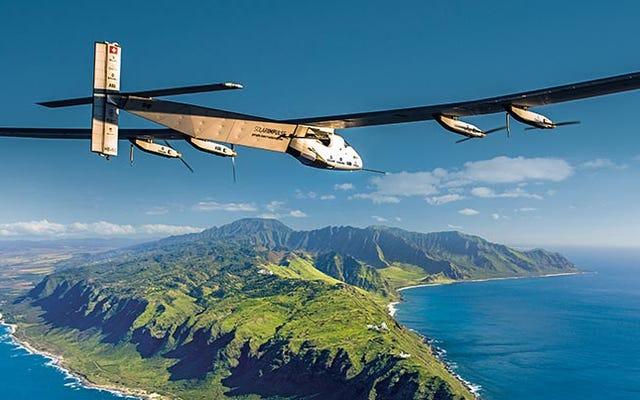 ソーラーインパルスが日本からハワイへの厳しい5日間のフライトで出発
