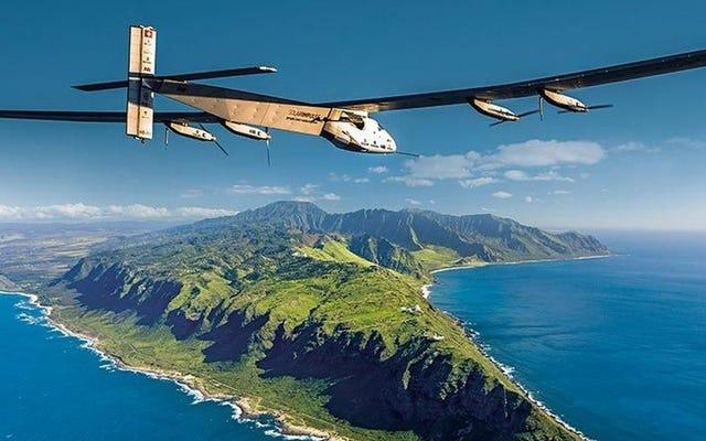 この太陽電池式飛行機はちょうど新しい飛行記録を打ち立てました