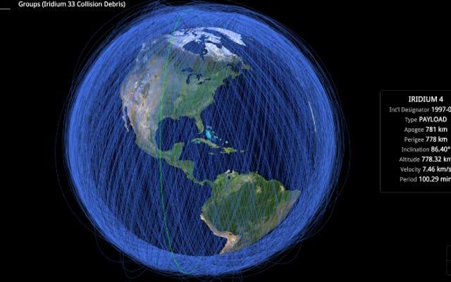 これが地球の軌道にあるすべてのオブジェクトのリアルタイムマップです