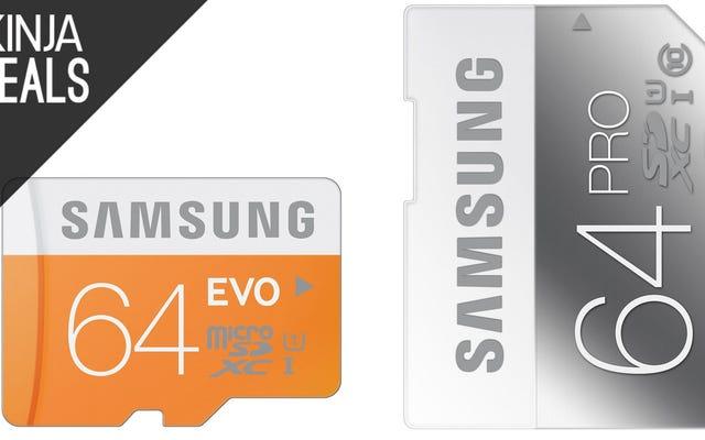 Abastecerse de tarjetas Samsung SD y MicroSD baratas
