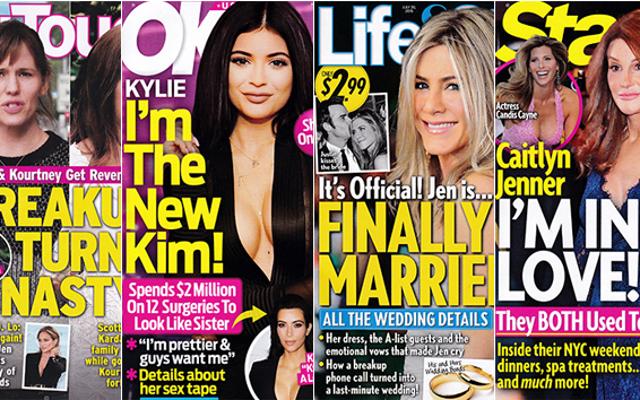 今週のタブロイド紙:ジェニファー・アニストンは今地獄のように結婚しています