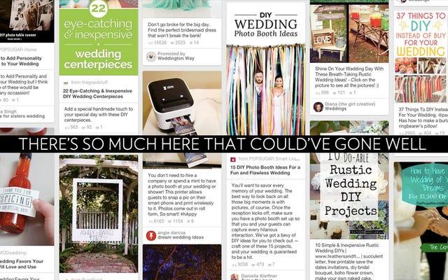 Năm ý tưởng tự làm đám cưới tuyệt vời từ Pinterest