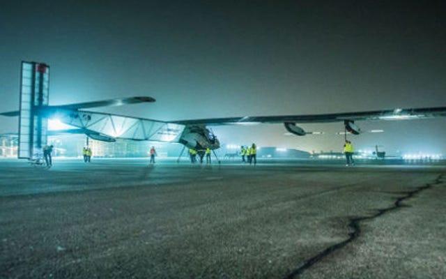 ソーラーインパルスは歴史的な5日間の飛行でバッテリーを揚げました