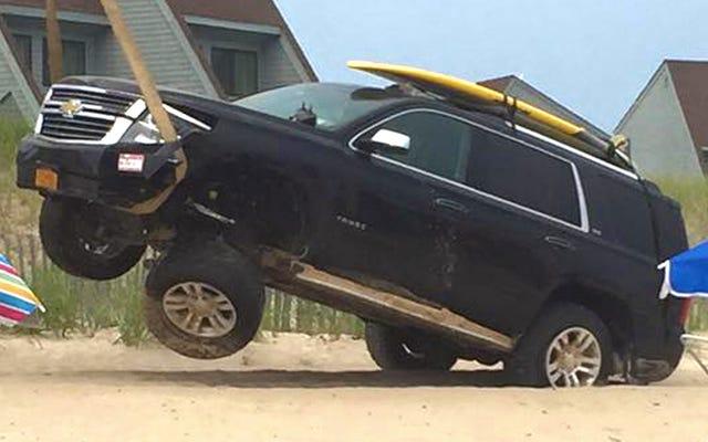 Por eso no lleva su SUV a surfear