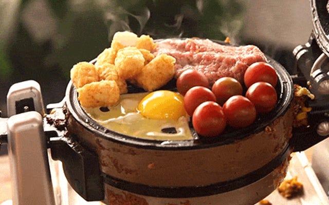 ワッフル焼き型でランダムな食べ物を調理するのが最も楽しい調理方法です