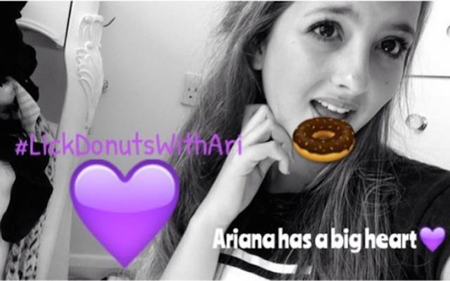 किशोर ने एरियाना ग्रांडे के साथ एकजुटता में डोनट-चाट सेल्फी पोस्ट की