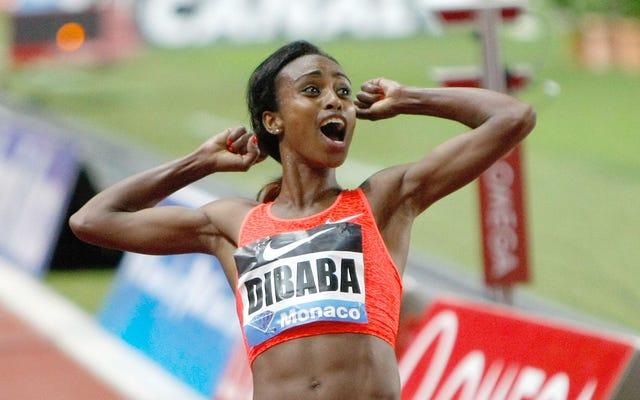 Oups, elle l'a encore fait: Dibaba établit un record du monde à 1500 mètres