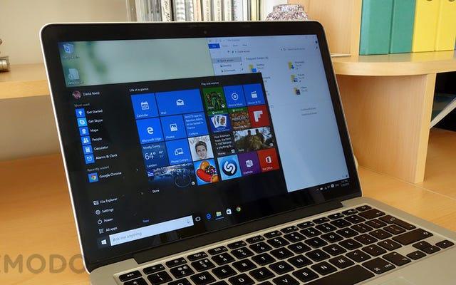 Windows 10, на Mac
