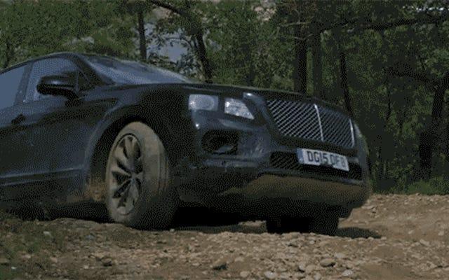 นี่คือภาพแรกของเราที่ Bentley Bentayga สามารถทำอะไรได้บ้างบนทางวิบาก